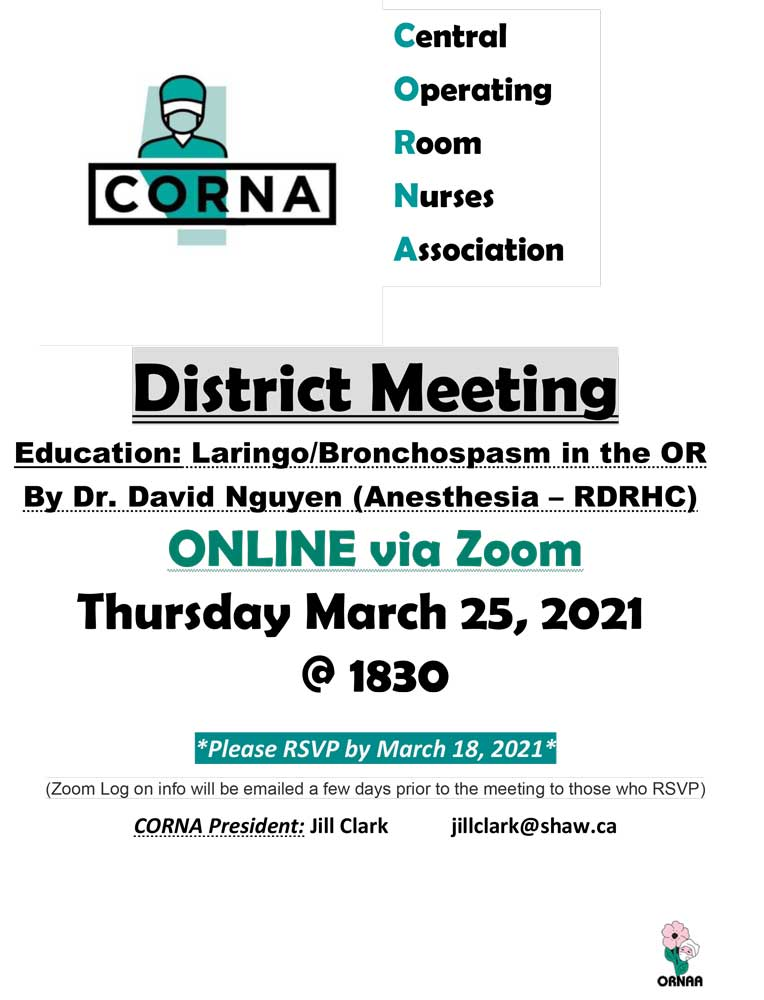 CORNA Meeting March 25, 2021