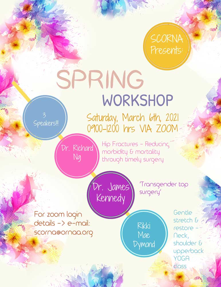 SCORNA Spring Workshop March 6, 2021